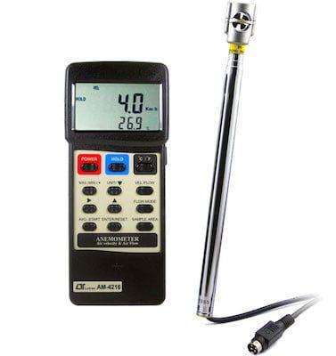 Anemómetro portátil mini veleta AM-4216
