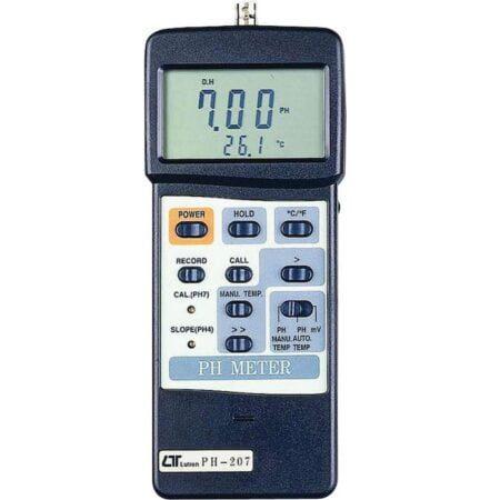 Medidor de PH con entrada para electrodo PH-207